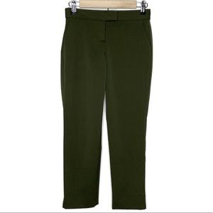 Theory Ibbey Chateau New Army Green Crop Trousers